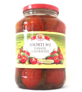 Assort № 2  -  Pickled Tomatoes & Gherkins 1450 g